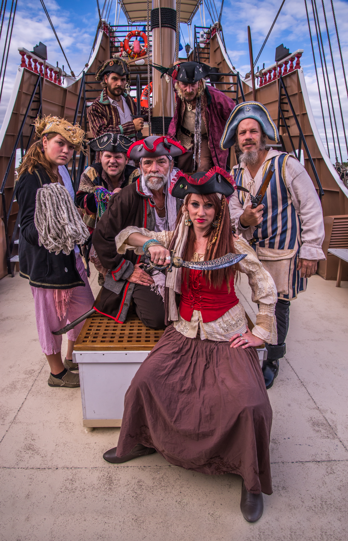 Pirate crew welcomes you aboard